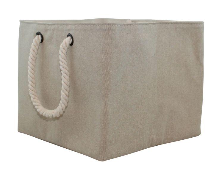 Jute Storage Bin with Rope Handle