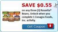 Save $0.55 on any three (3) Rosarita® Beans. Unlock when you complete 1 Conagra Foods, Inc. activity. : #Uncategorized Check it out here!!