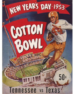 1953 Cotton Bowl Program - Tennessee vs. Texas