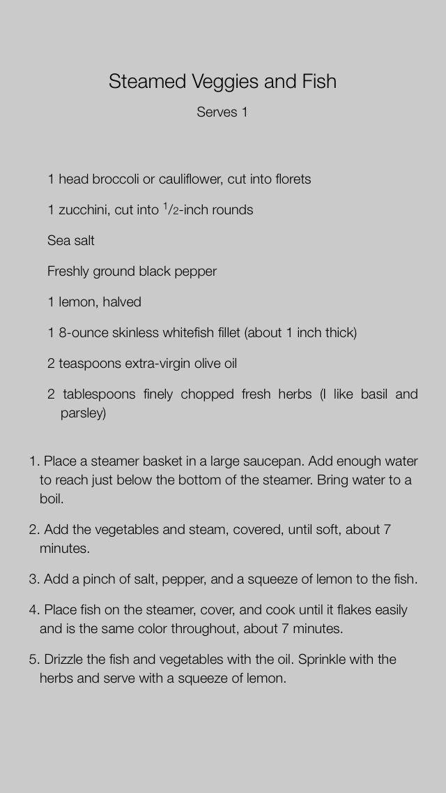 Steamed Fish and Veggies - Khloe Kardashian
