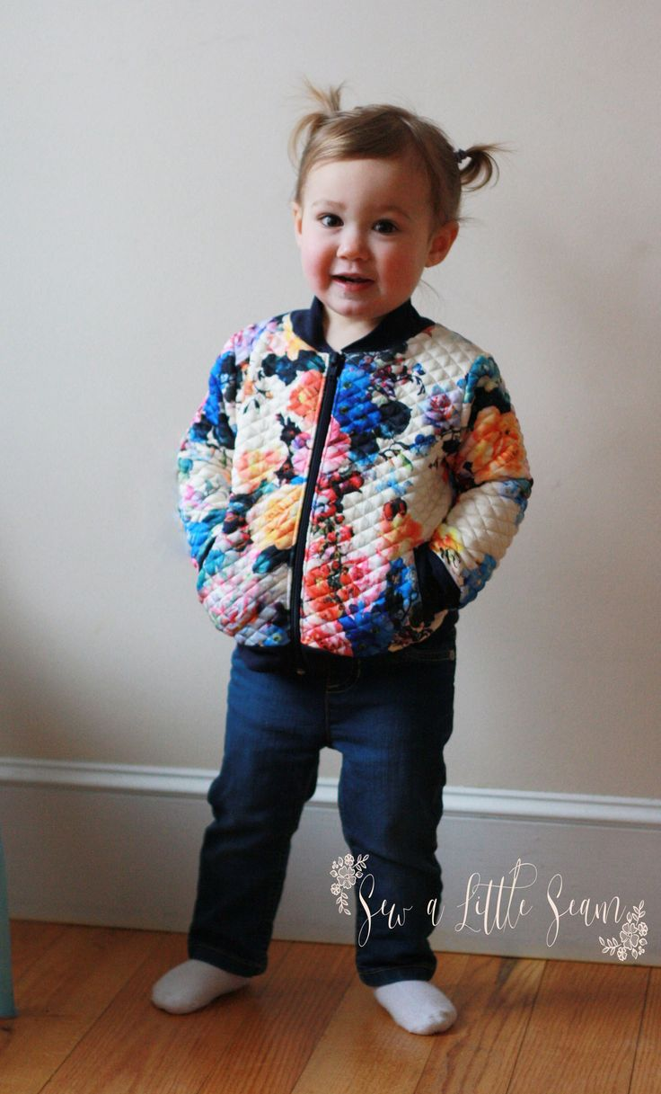 Bomber Jacket Tutorial and Free Pattern Free pattern is 2T but  other sizes are available to purchase. Tutorial is good.