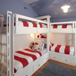 Built-In Bunk Bed Plans