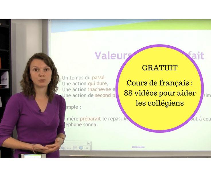 La chaine Digischool propose gratuitement 88 vidéos sur le programme de français au collège (de la 6ème à la 3ème). Cela constitue pour les adolescents une excellente façon de comprendre, mémoriser…