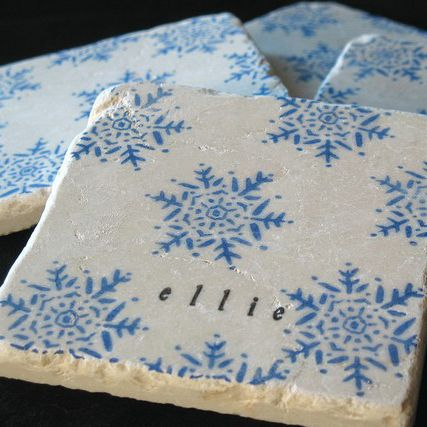 Snowflake Drink Coasters Images