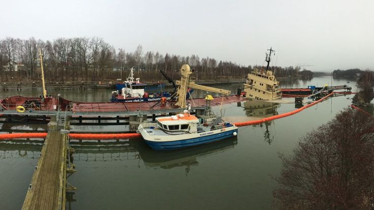 Salvage crews with Ardent have righted and refloated the self-unloading bulker Sternö, which partially sank at the upstream entrance to the Lilla Edet locks on Sweden's Gota River on February 23. http://maritime-executive.com/article/photos-ardent-refloats-swedish-cargo-vessel