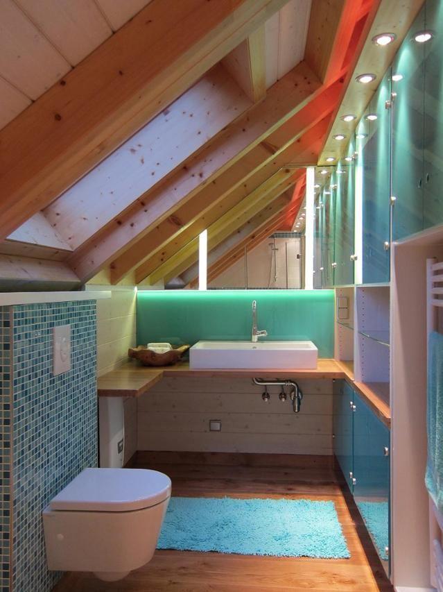 0 Likes - Entdecke das Bild von Birgithansen auf COUCHstyle zu 'Bad in der Dachschräge #dachschräge #badezimmerspieg...'.