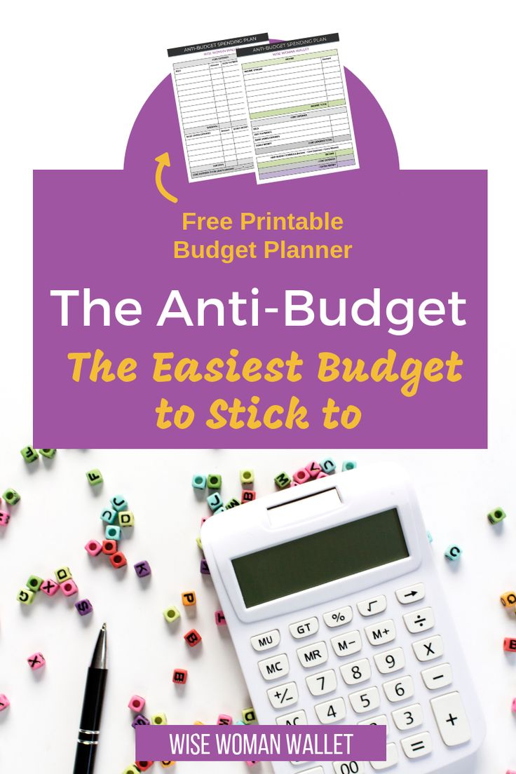 The antibudget helps you satisfy your needs and goals