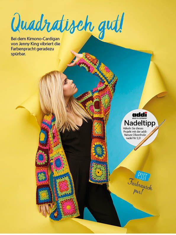 Häkelmagazin Simply Häkeln Kimono aus Häkelquadraten 0417