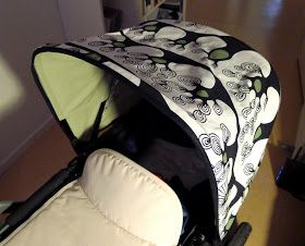 Inspired by Mamma på vift and encouraged by my husband, I decided to create a custom canopy for my Bugaboo Cameleon. I got the pattern by a...