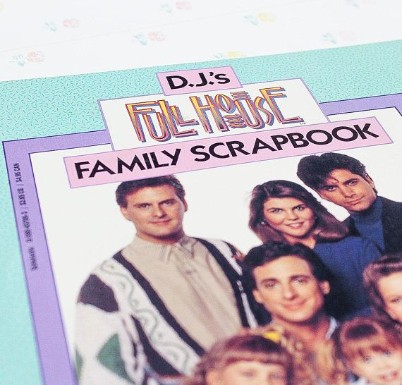 Djs Full House Family Scrapbook, from Scholastic 1992. Light wear on the cover, inside like new. A great collectible item for a Full(er) House fan! ***** More gift ideas & curated gift sets: https://www.etsy.com/ca/shop/TopSecretShoppe?section_id=22955986  ***** Your item will be