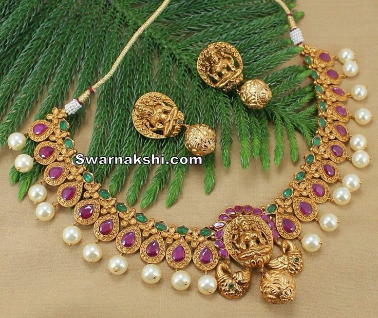 1 gram gold pearl line necklace Inbox us or whatsapp to 09581193795 to buy online  Or visit our showroom at LIG block no 11, F. No 9, 3rd Phase, KPHB, Kukatpally, Hyderabad  For more collections visit http://swarnakshi.com/product-cate…/necklace/short-necklace/