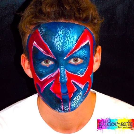 Spiderman face Painting by Gliiter-Arty Face Painting, Bedford Bedfordshire