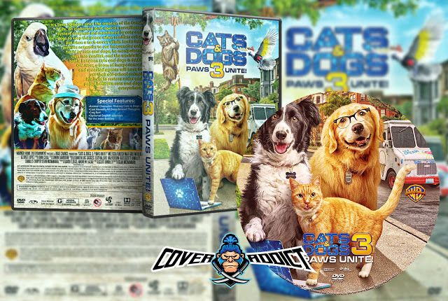 Cats Dogs 3 Paws Unite 2020 Dvd Cover In 2020 Dvd Covers Dog Cat Paw