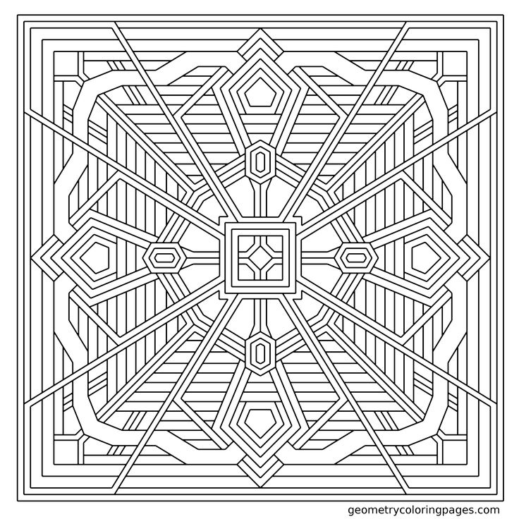 coloring page crystal clover from geometrycoloringpagescom