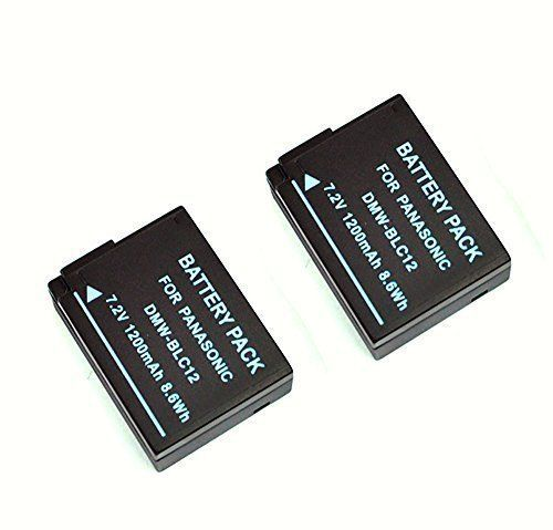 Mondpalast 2X Li-ion Replacement Battery 1200mAh DMW-BLC12 BLC12 with infochip with for Panasonic DMC-GH2 DMC-FZ200 DMC-G5 DMC-DMC-G5 GH2GK FZ1000K 4K Lumix GX8