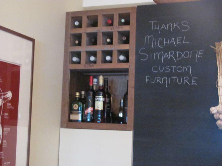 Reclaimed wine storage