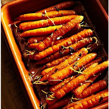 Roasted Baby Carrots with Garlic  #recipe A delicious addition to your roast dinner