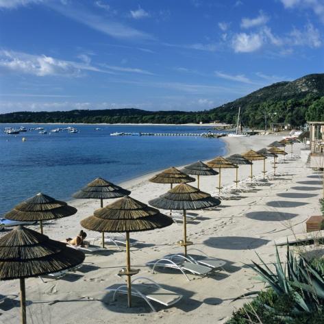 Beach View, Pinarellu, Southeast Coast, Corsica, France, Mediterranean, Europe