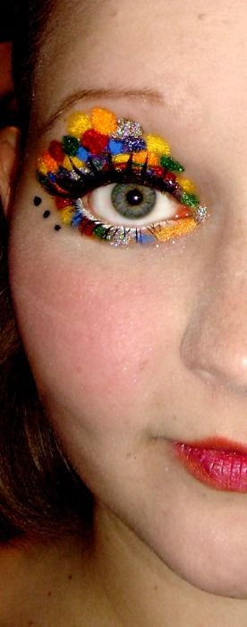 mottled and bright eye shadow