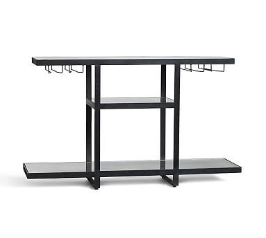 Hillary Mirrored Bar #potterybarn Too big for our space but like this style