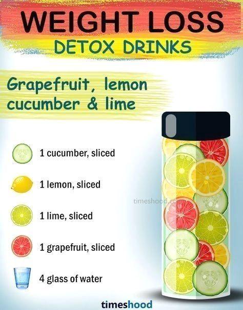 Wie man Gewicht verliert. Pampelmusengurken-Zitronengewichtsverlustgetränk. bes