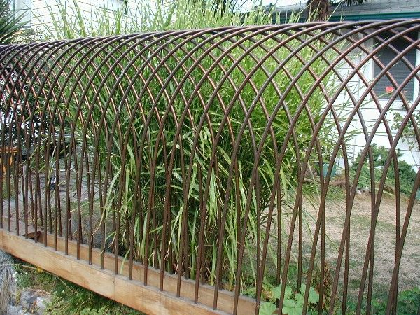 Front Railings In Copper Diy Garden Trellis Metal