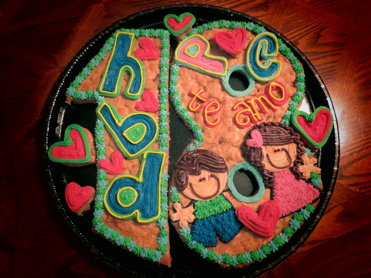 18th Birthday Cookie Cake I Did A While Ago It Was From A