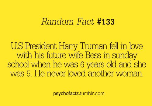 Cutest random fact ever. :)