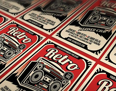 """Check out new work on my @Behance portfolio: """"Retro Music Radio Flyer Poster"""" http://be.net/gallery/38678107/Retro-Music-Radio-Flyer-Poster"""