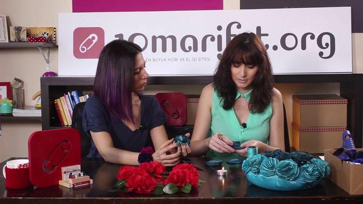 Video: Mavi kumaş çiçek yapımı ve çiçekli çerçeve - 10marifet.org