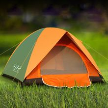 Folding Camping Tent Double Layers Outdoor Fishing Tourist Tent Ultralight Rainproof Beach Tent Hiking 3-4 Person Family Tent