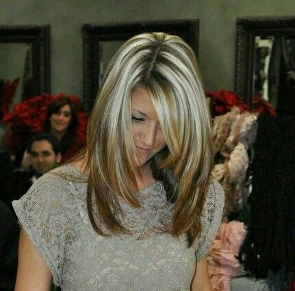 G's old school chunky blonde highlights ;)