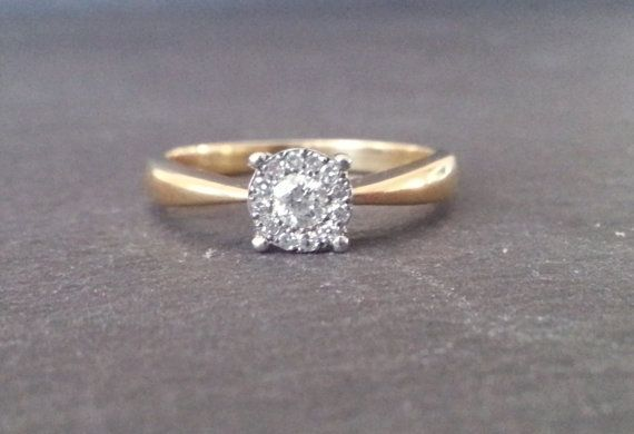Solitaire Round Twist Diamond Engagement Ring Single by ArahJames