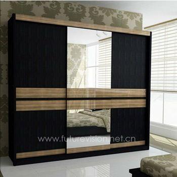contemporary closet doors for bedrooms | Modern Bedroom Sliding Door Wardrobe Closet (EL-311W)