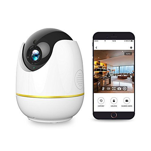 Home Security Camera Compatible with Alexa Echo ShowNetvue 1080P Wireless IP Camera with Motion Detection P/T/ZTF Card Record2 Way Audio and Night Vision Baby Monitor