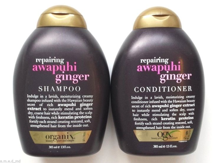 OGX Shampoo, Repairing Awapuhi Ginger, Duo Set, Shampoo and Conditioner, 13 Ounce, 1 Each by Organix >>> You can find more details by visiting the image link.