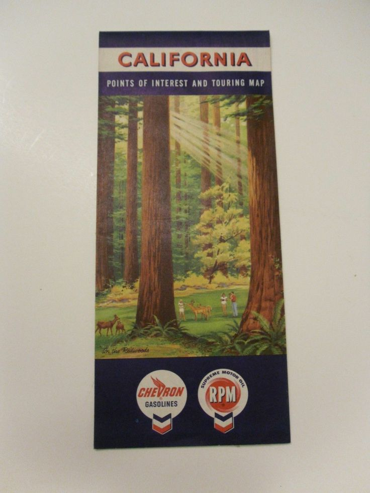 Roadmap Of The Us%0A Vintage Chevron Standard Oil Gas Station Road Map California Based on       Cen