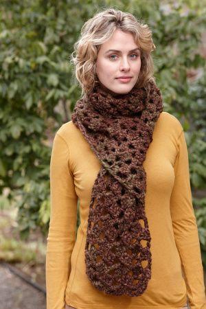 Crochet lacy scarf