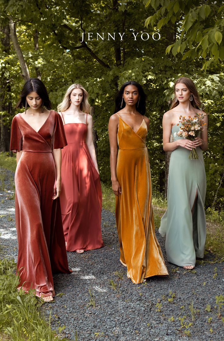 Chic bridesmaids dresses you'll definitely want to wear again. Jenny Yoo's F…
