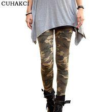 CUHAKCI 2017 Nouveau Marques Femmes Leggings Haut Élastique Skinny Camouflage Legging Printemps Automne Leggins Minceur Femmes Loisirs Pantalon(China)