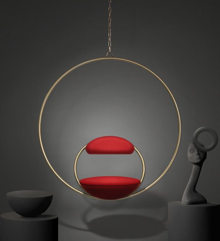 The Hanging Hoop Chair by Lee Broom