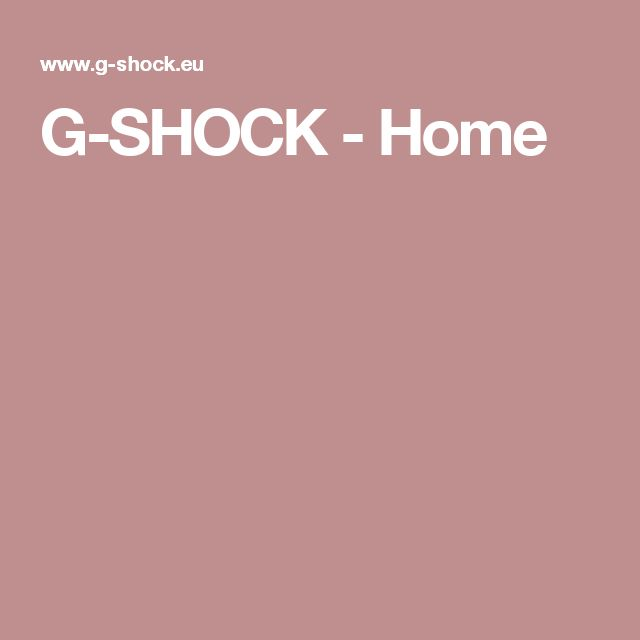 G-SHOCK - Home