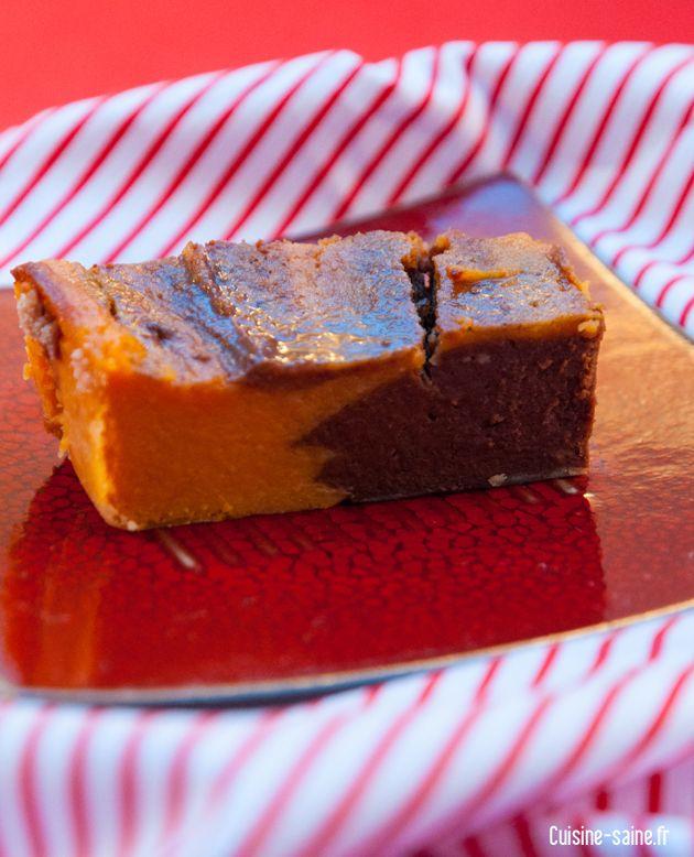 gâteau au chocolat et patate douce sans oeuf