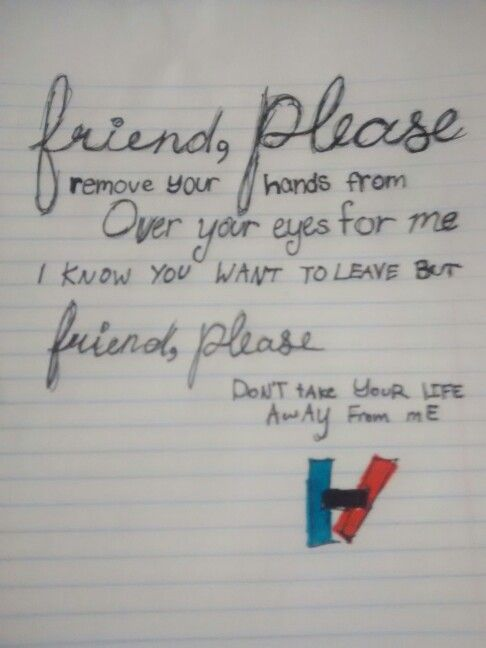 Friend, Please - Twenty One Pilots (my drawing/doodle/whatever you would call it)