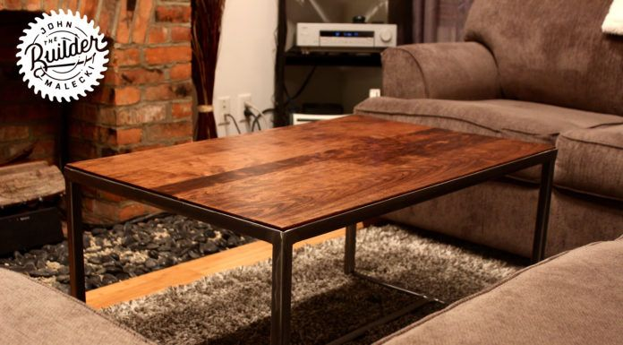 DIY Woodworking Ideas BUILD AN INDUSTRIAL COFFEE TABLE | CUSTOM PROJECTS