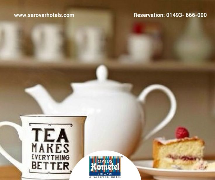 A piece of perfectly baked cake complements sweetly with a cup of Hot #Tea and #Monday... For Reservation: 01493- 666-000 Or, Visit Us: www.sarovarhotels.com/bhiwadi-hotels/optus-hometel  #Hotel #FamilyHotel #Bhiwadi #BusinessHotel