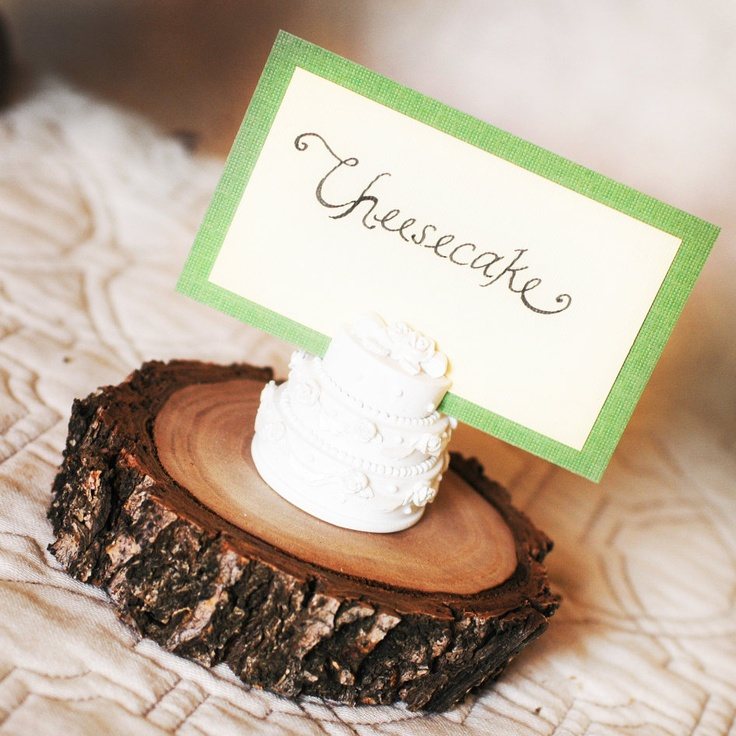 mini cake stand wooden branch place card holder rustic place card place cardssmall wedding