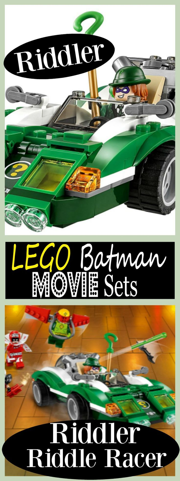 Lego Batman Movie Sets 2017 - The Riddler is at it again. Check out his new Riddler Riddle Racer Car. Pretty cool!