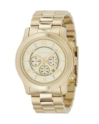 Obsessed with gold watches... Michael Kors. Lovely.