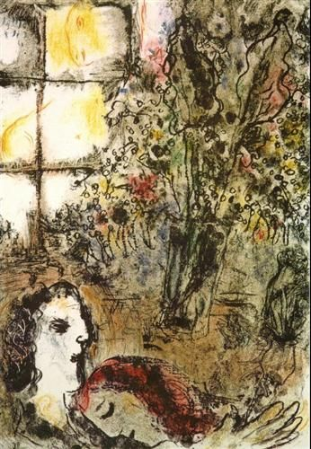 The Summer Evening - Marc Chagall, 1968